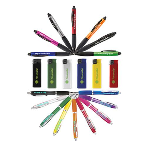 Bolígrafos y encendedores personalizados Publiguindas.es