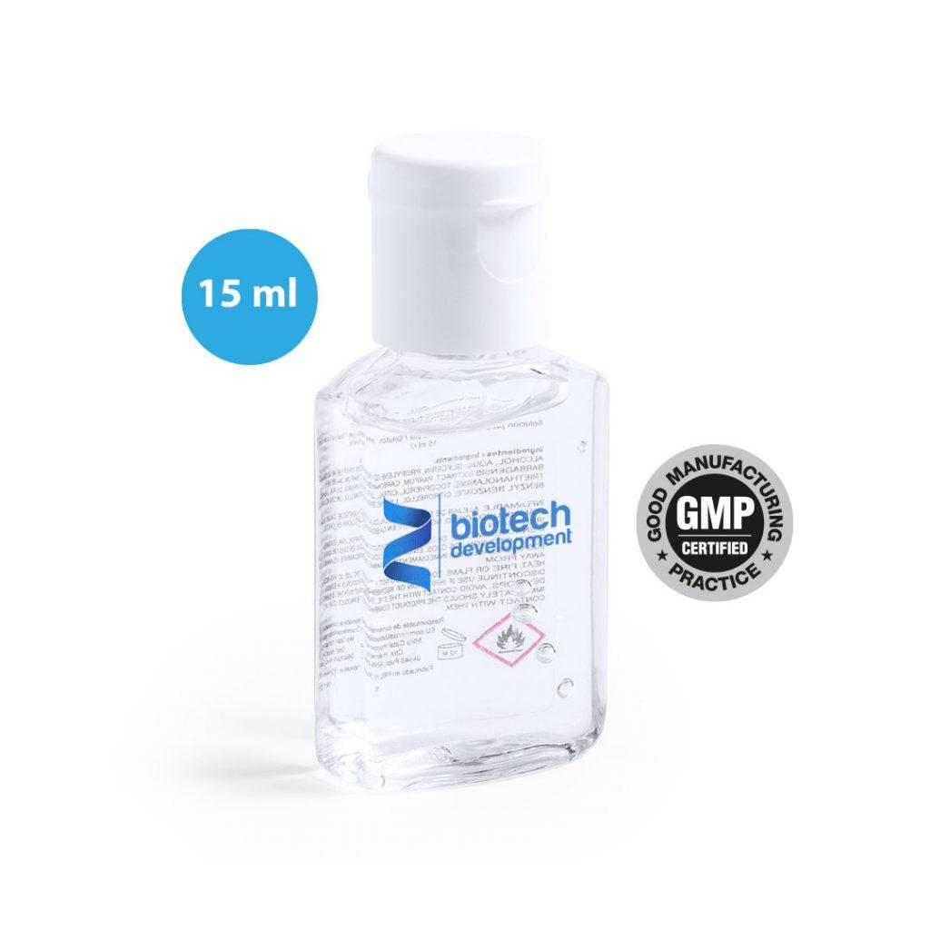 Gel Hidroalcohólico 15 ml. desinfectante COVID 19 | Publiguindas.es